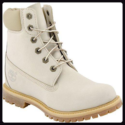 Timberland 6 Inch Damen Premium Leder Boots Wedge off white