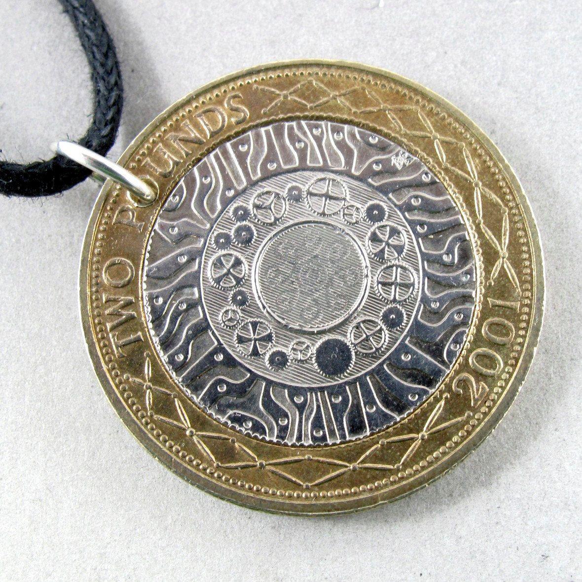 Celtic England Coin Necklace Uk Coin Pendant Charm 2 Etsy Coin Necklace Coin Jewelry Coin Pendant