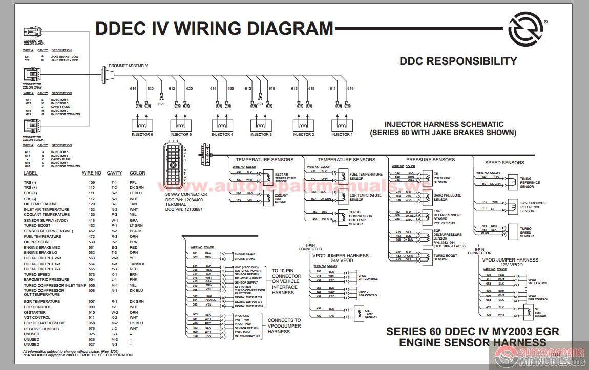 Detroit Diesel Series 60 DDEC IV Wiring Diagram On Detroit Diesel Series 60  Ecm Wiring | Detroit diesel, Detroit, Electrical circuit diagramPinterest