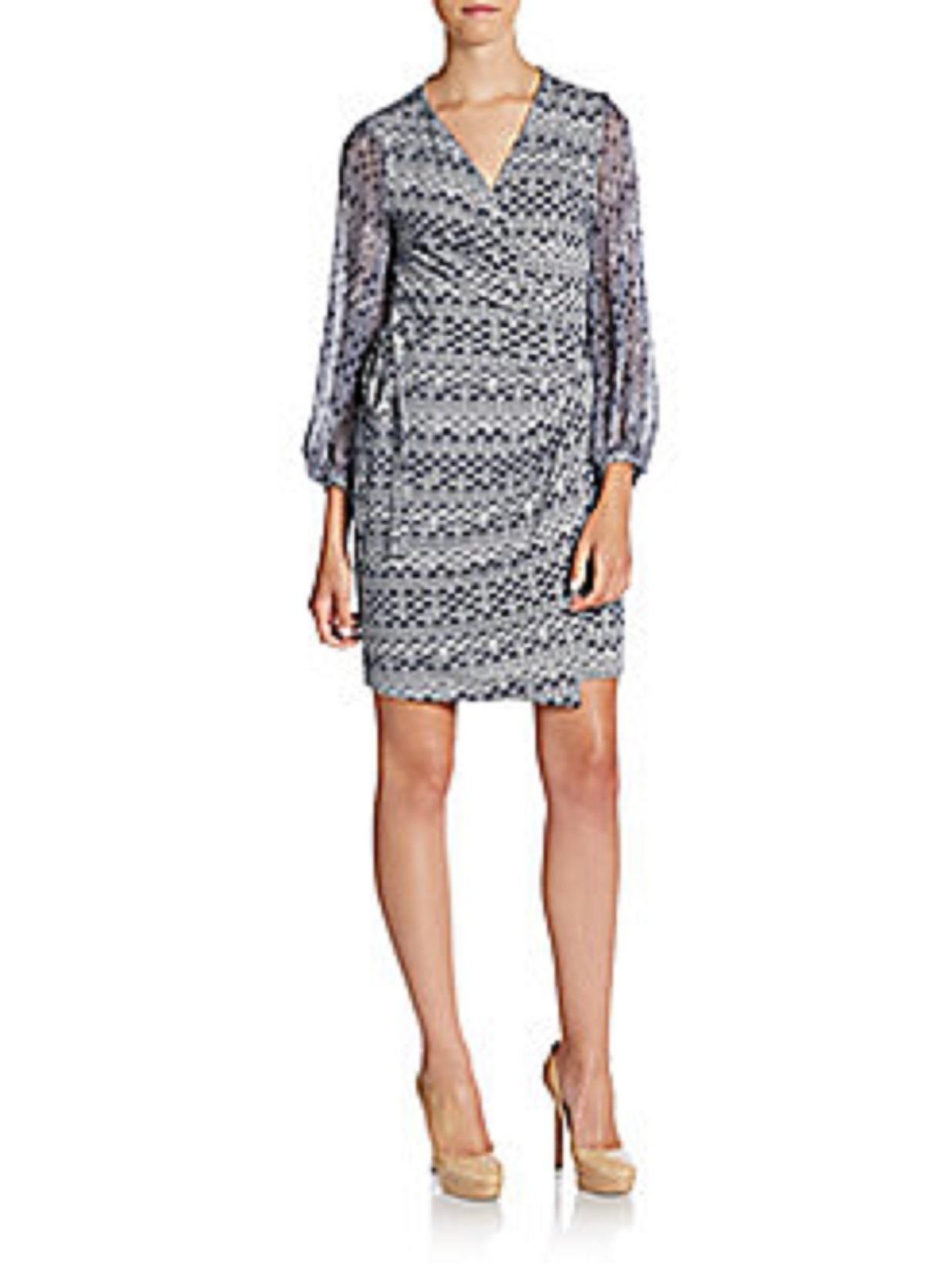 bb190c64ba Diane Von Furstenberg Sigourney Wrap Dress. Free shipping and guaranteed  authenticity on Diane Von Furstenberg Sigourney Wrap Dress at Tradesy.