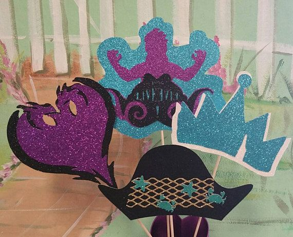 Descendants 2 Centerpiece Party Decorations Uma 8th Birthday 2nd Parties Ideas