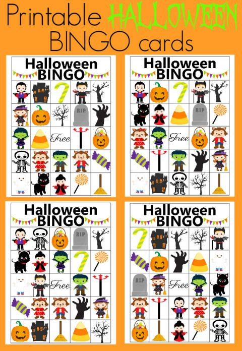use these printable bingo cards for your Halloween party. It\'s the ...