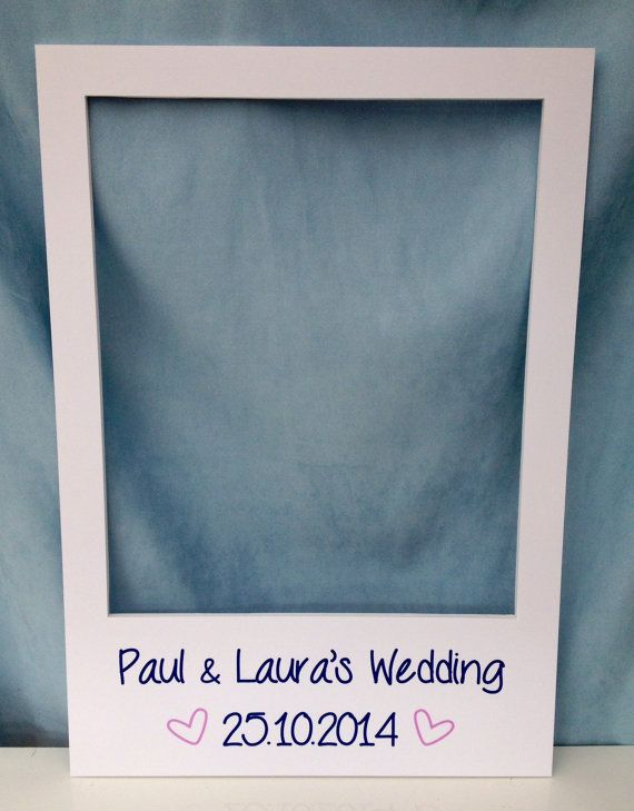 largemedium personalised photo booth prop frames perfect for weddings birthdays anniversaries hen parties and any other event by instaframeuk on etsy