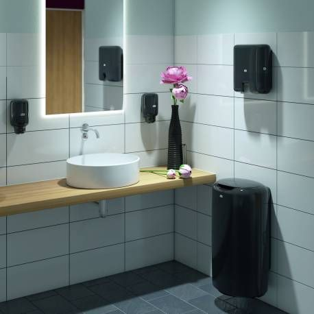 Papelera Tork Negra Cubos De Basura Bathroom Toilet Y Home Decor
