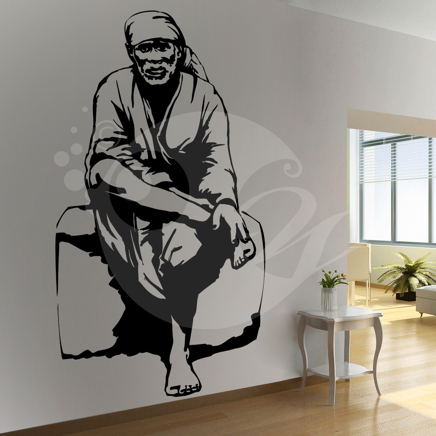 4625a813e2 With this Sai Baba Wall Sticker Decal you can decorate your walls in one of  the most modern and elegant ways