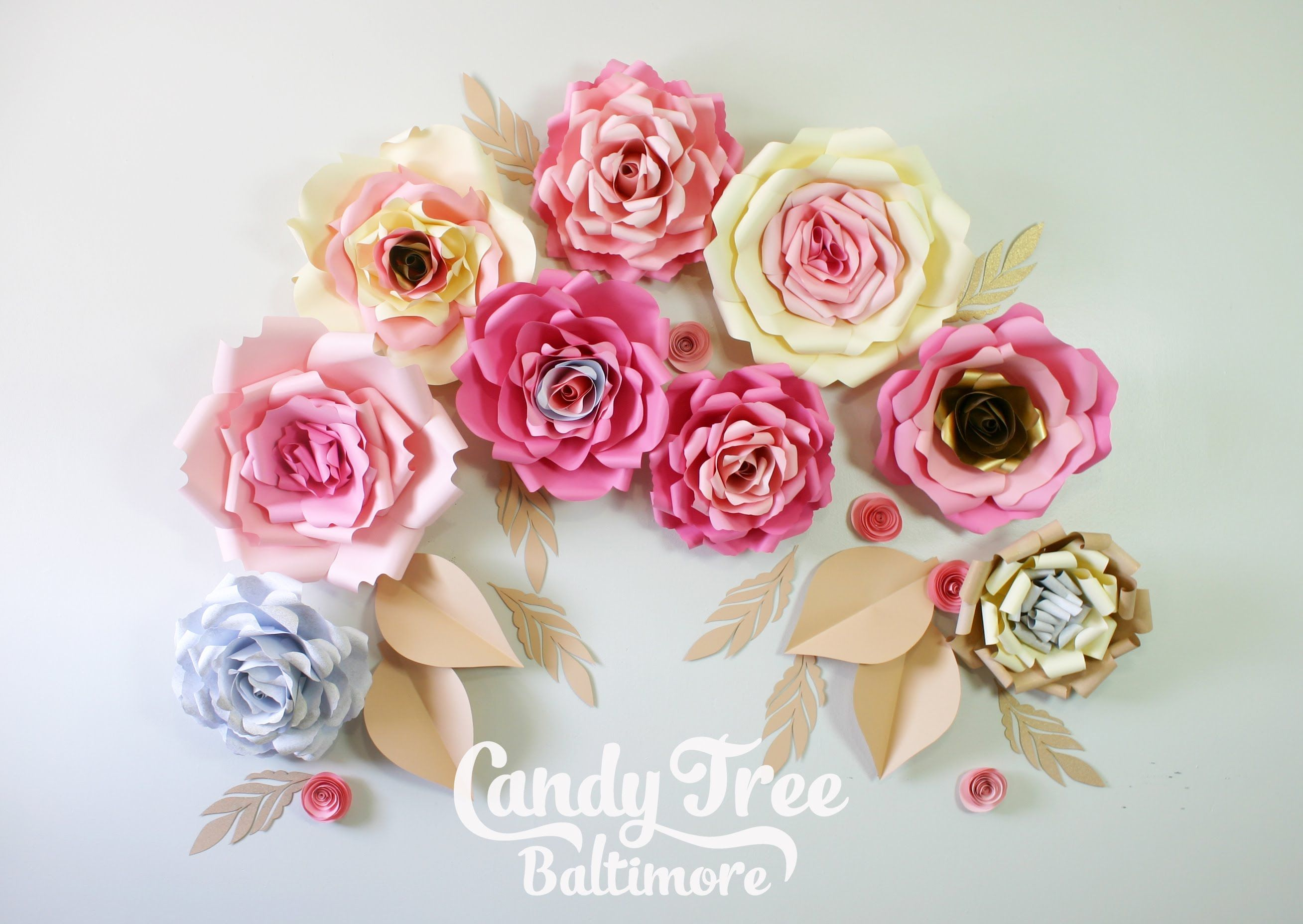 Diy Paper Rose Backdrop Tutorial Lesson No1 Flores Pinterest