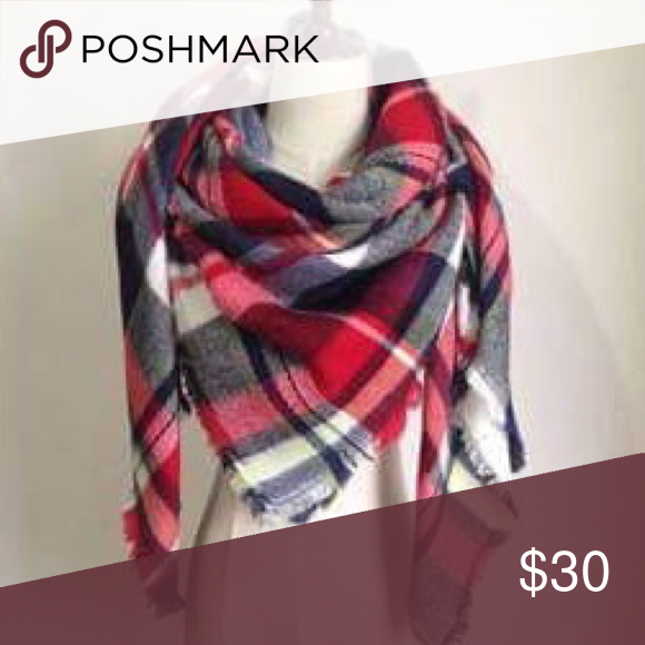 🆕Listing! Warm & Cozy Tartan Blanket Scarf Brand new in package! Super warm and cozy and extra big! Can be worn multiple ways... as an oversized scarf, a poncho wrap w/belt, blanket wrap, etc. 3 other colors available in closet. Price firm unless bundled. ❌NO TRADES ❌NO LOWBALLING❌ **only one of this color available ** Boutique Accessories Scarves & Wraps