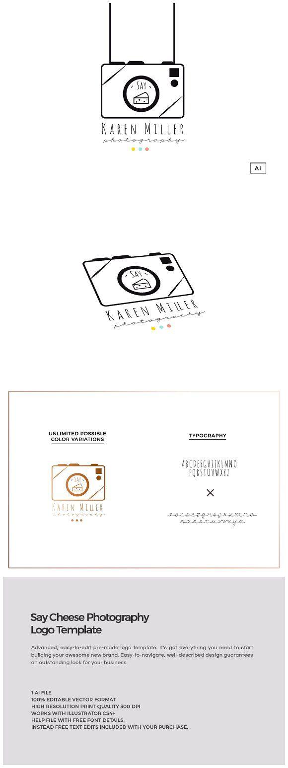 Say Cheese Logo Tmeplate @creativework247 | Templates - Templates ...
