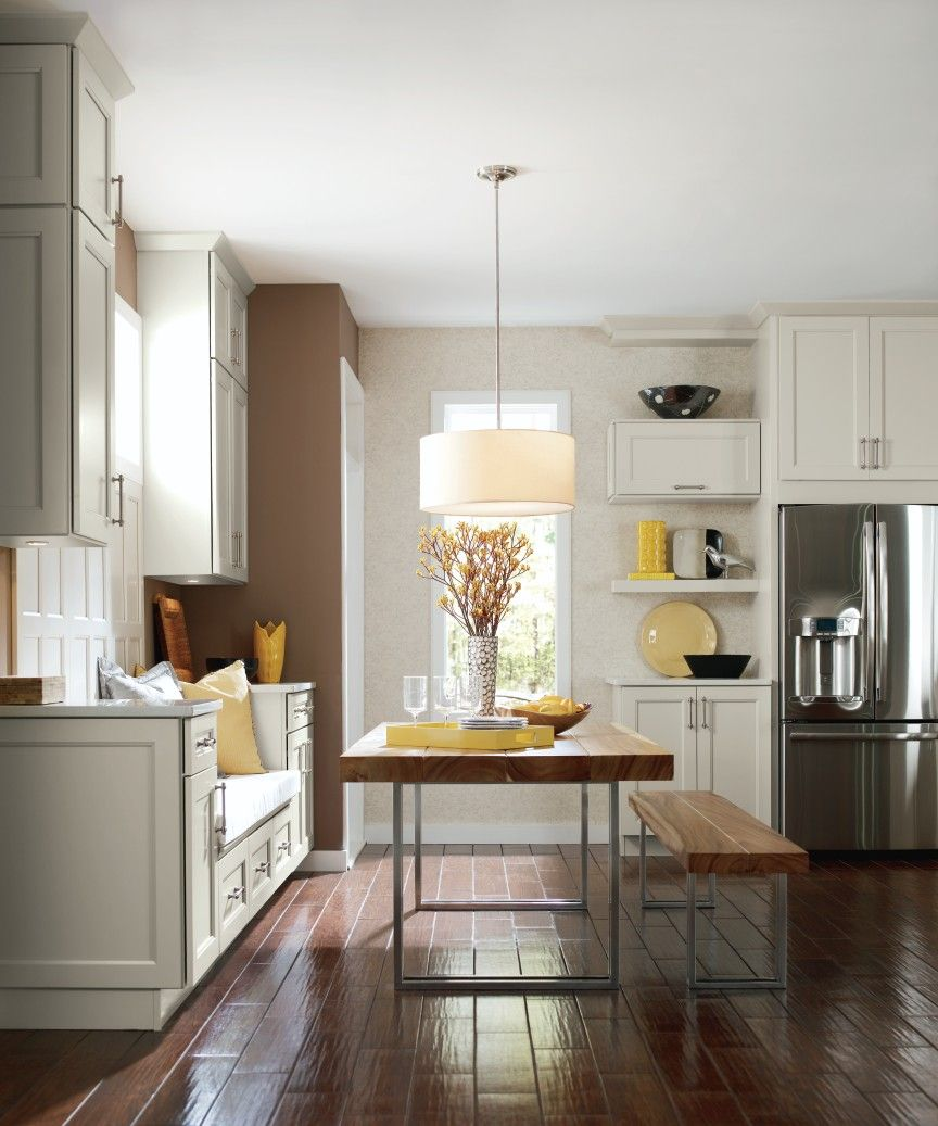 How can you not like these white cabinets paired with this ...