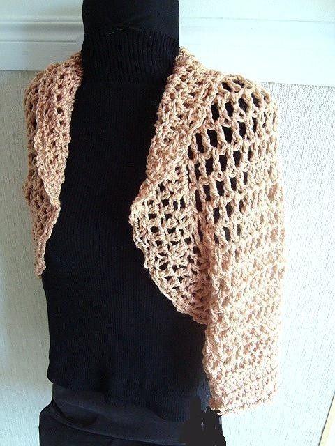 crochet bolero jacket pattern free | shelly shrug crochet pattern ...