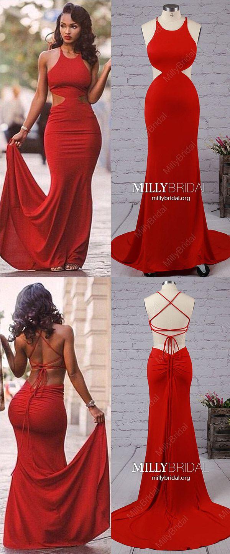 Red prom dresseslong prom dresses for teensjersey prom dresses