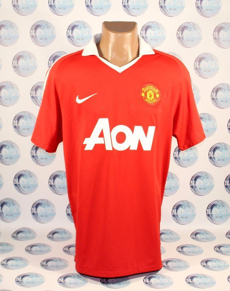 54b29a7f661 MANCHESTER UNITED 2010 2011 HOME FOOTBALL SOCCER SHIRT JERSEY TRIKOT NIKE L   Nike  ManchesterUnited