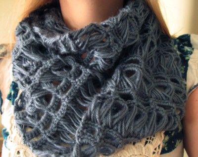 Broomstick Lace Infinity Scarf Crochet Pattern Broomstick Lace