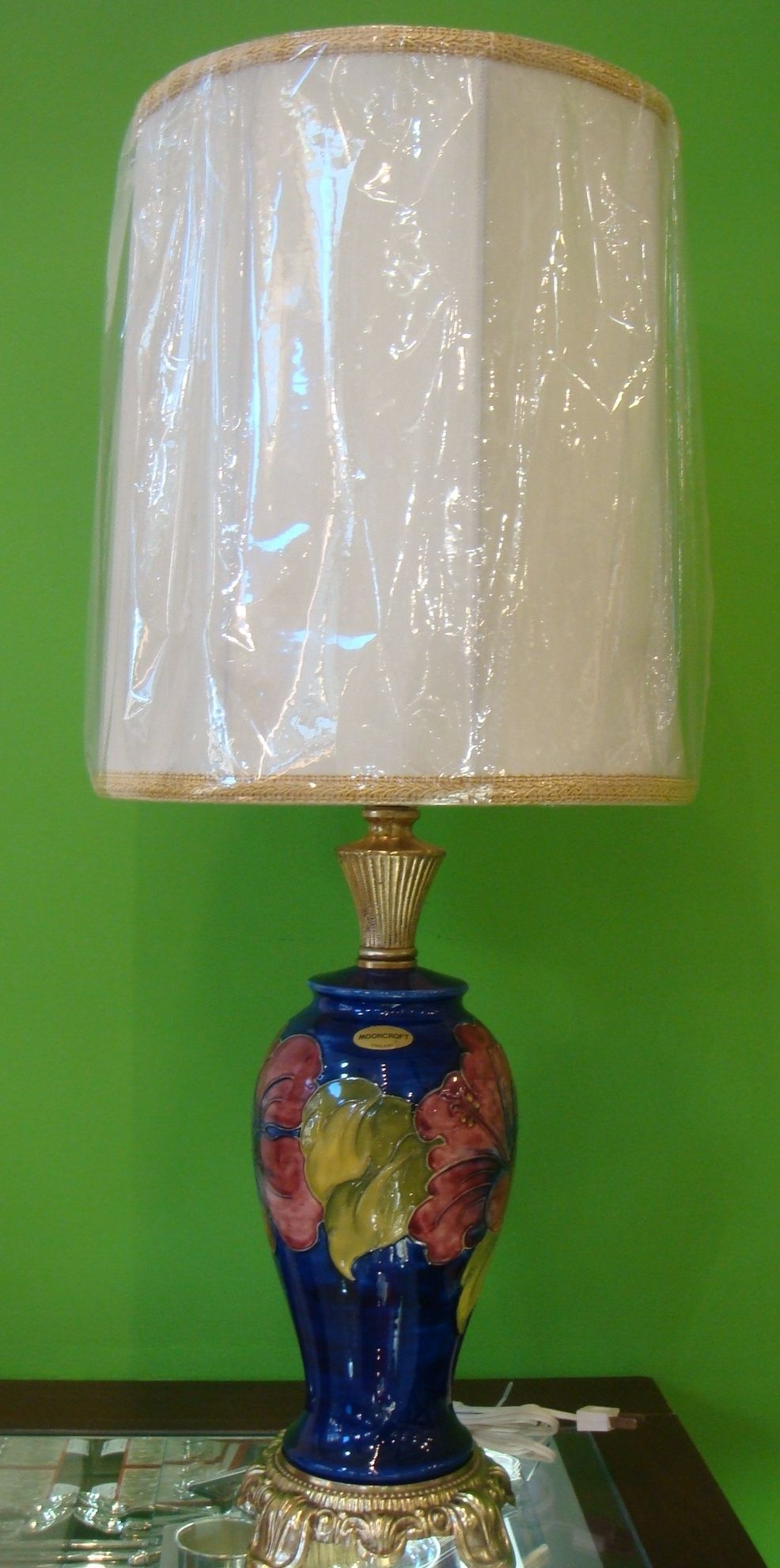 Beautiful table lamp with ceramic body by moorcroft dimensions h29 beautiful table lamp with ceramic body by moorcroft dimensions h29 price 845 aloadofball Choice Image