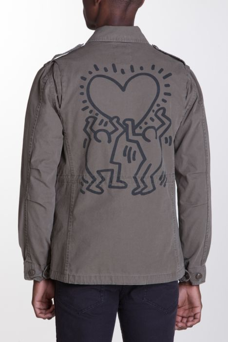 OBEY Clothing Keith Haring M-65 Jacket made of 100% cotton