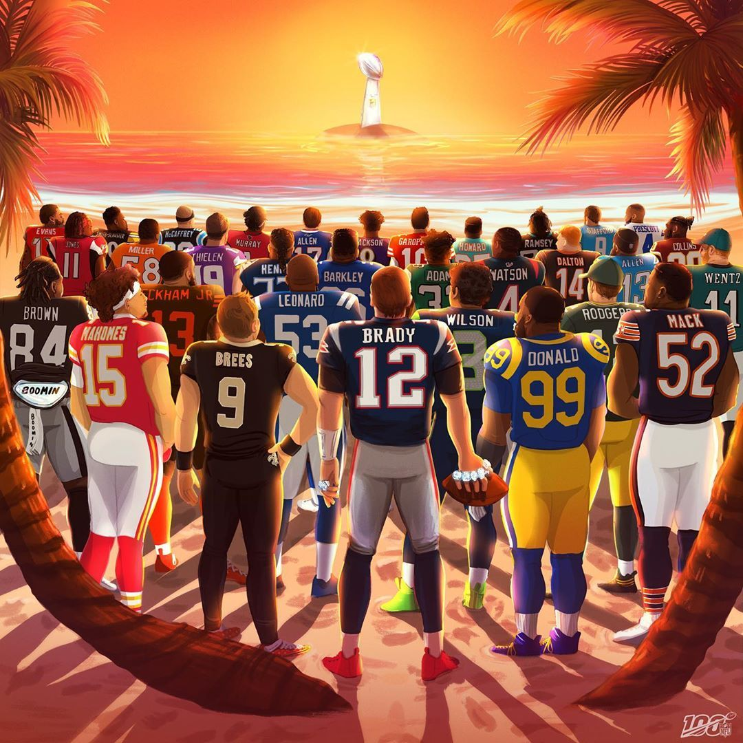 The Sun Rises On Our 100th Season The Sun Rises On Our 100th Season Whos Winning Sbliv Nfl100 Nfl Football Art Nfl Football Pictures Nfl Funny