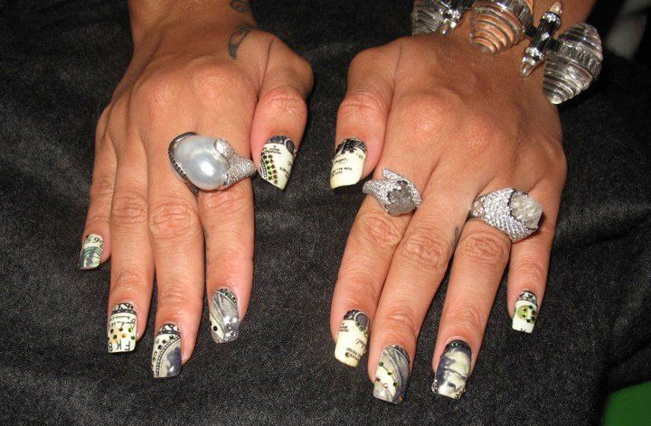 Rihanna\'s Nails by Kimmie Kyees   Kimmie Kyees   Pinterest   Make up