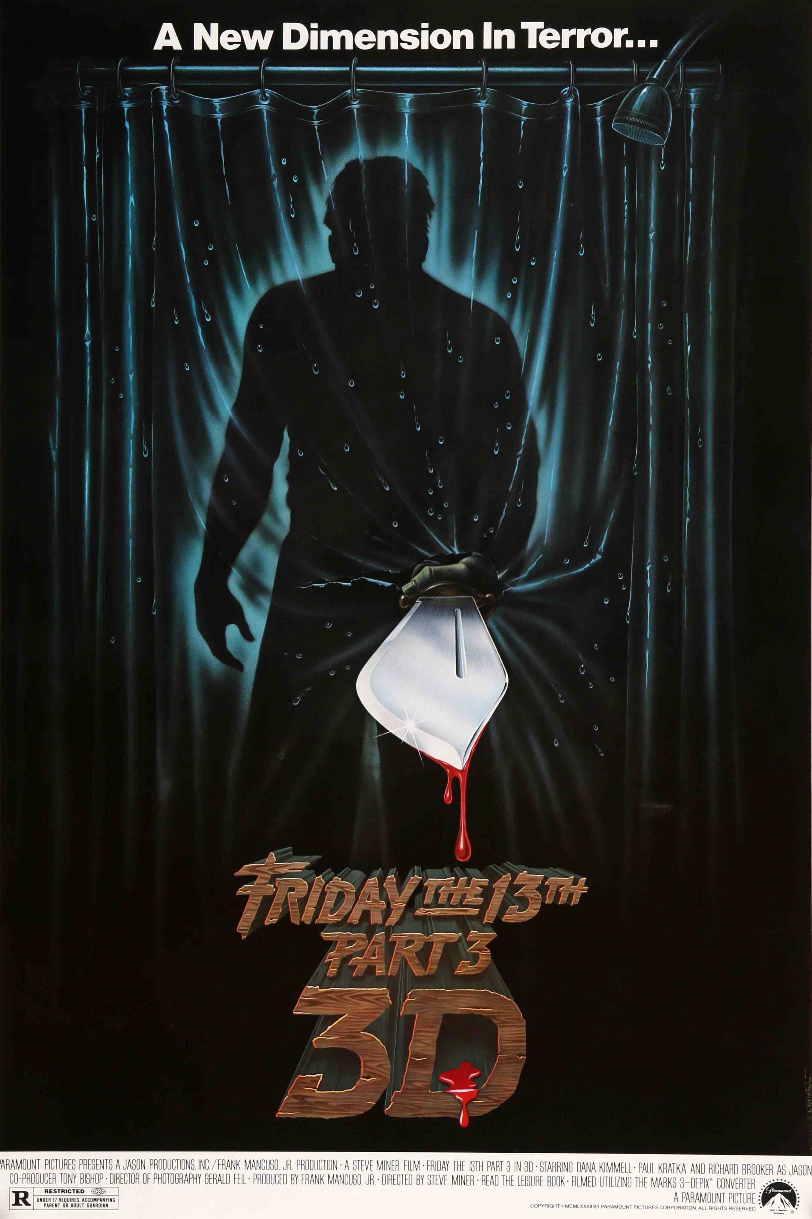 """FRIDAY THE 13th Part II 1981 Silk Fabric Movie Poster 24/""""x36/"""" Horror"""