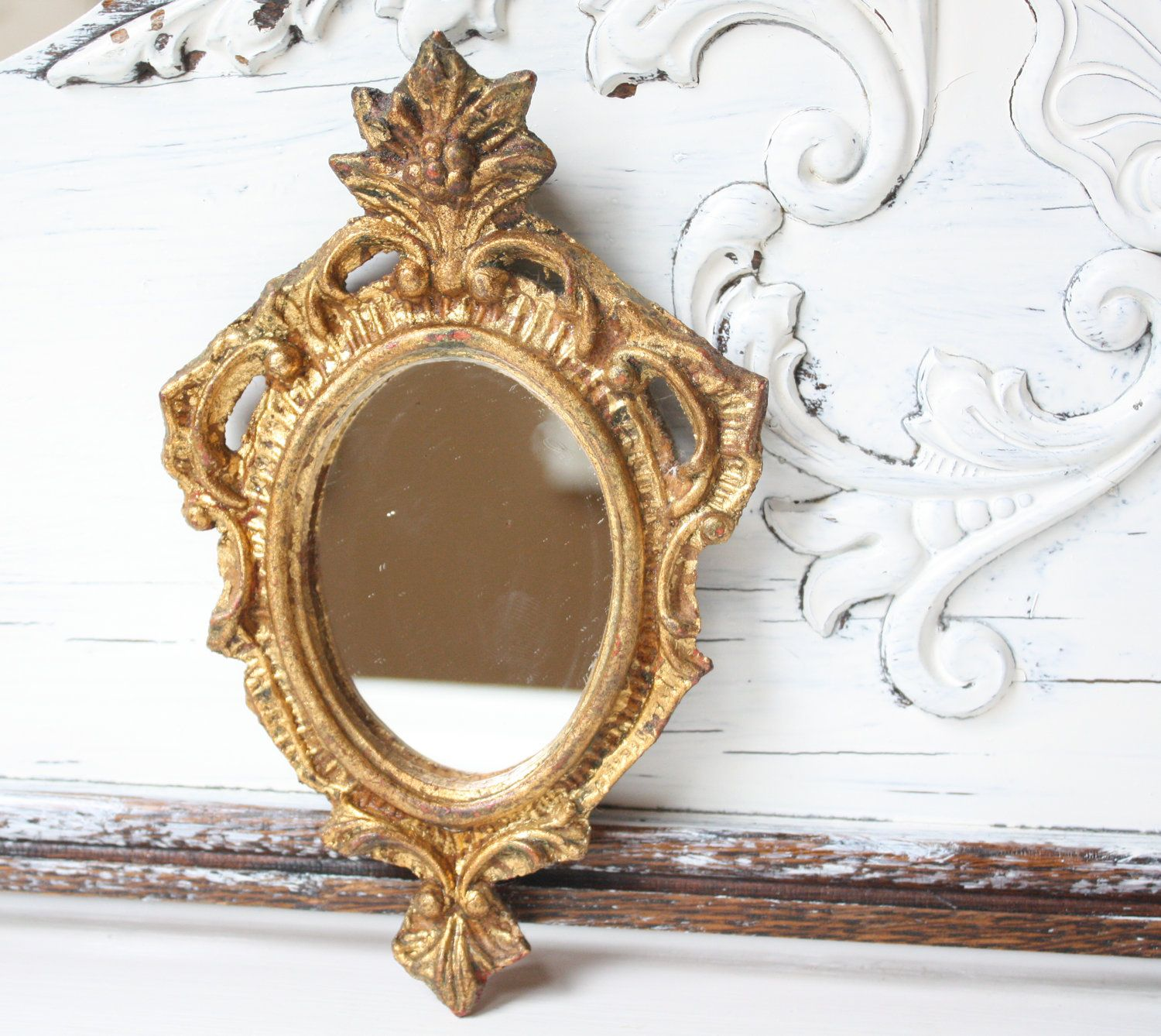 Hollywood Regency Gold Framed Wall Mirror By Bohemianlil On Etsy,
