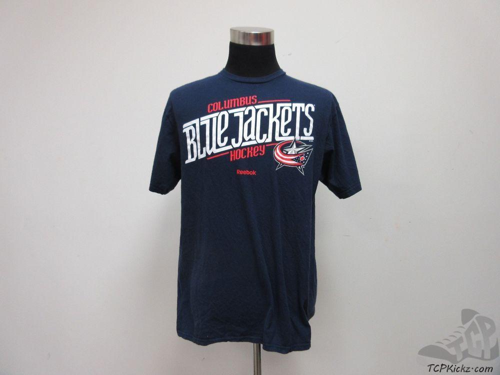 Reebok Columbus Blue Jackets Short Sleeve Crewneck t Shirt sz XL ...