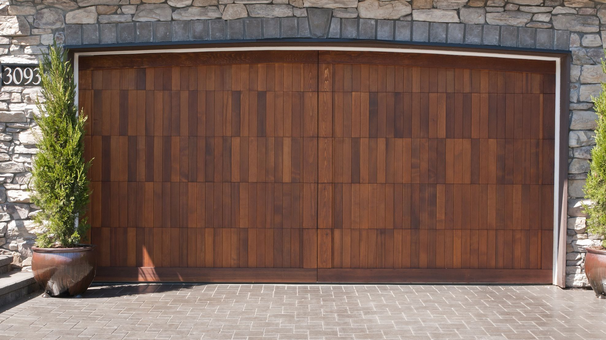 Garage Door Stained Using Sikkens Cetol Log And Siding