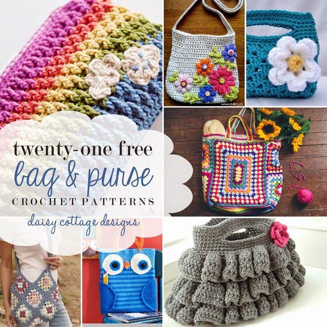 21 Free Bag Crochet Patterns Cottage Design Crochet And Patterns