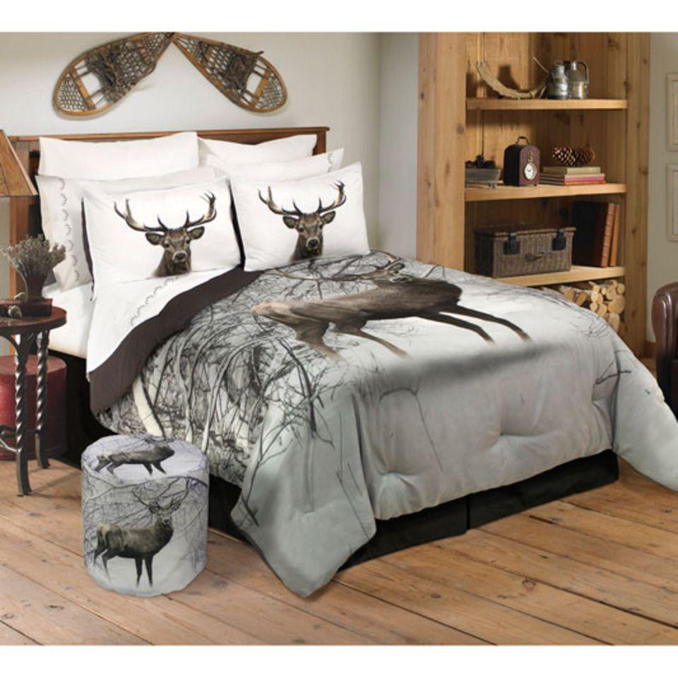 Safdie Co 3 Pc Mountain Deer Queen Comforter Set In Multicolor Deer Bedroom Decor Bed Comforter Sets Comforter Sets