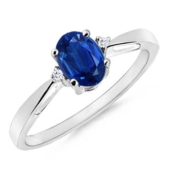 Angara Blue Sapphire Womens Rings Set in Platinum 9MCRtc