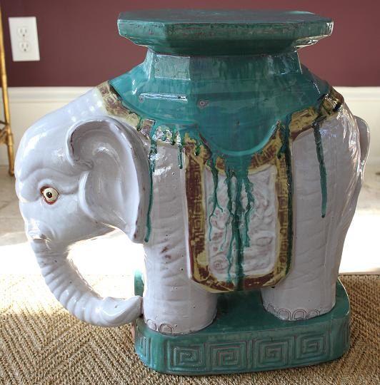 Vintage Elephant Garden Stool Gardens Vintage and Vintage elephant