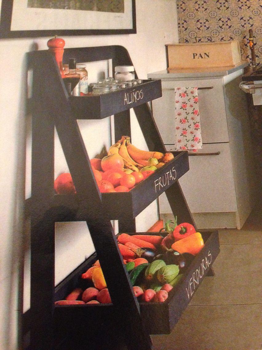 Verdulero verduleros pinterest fruteros cocinas y fruta for Carro frutero cocina