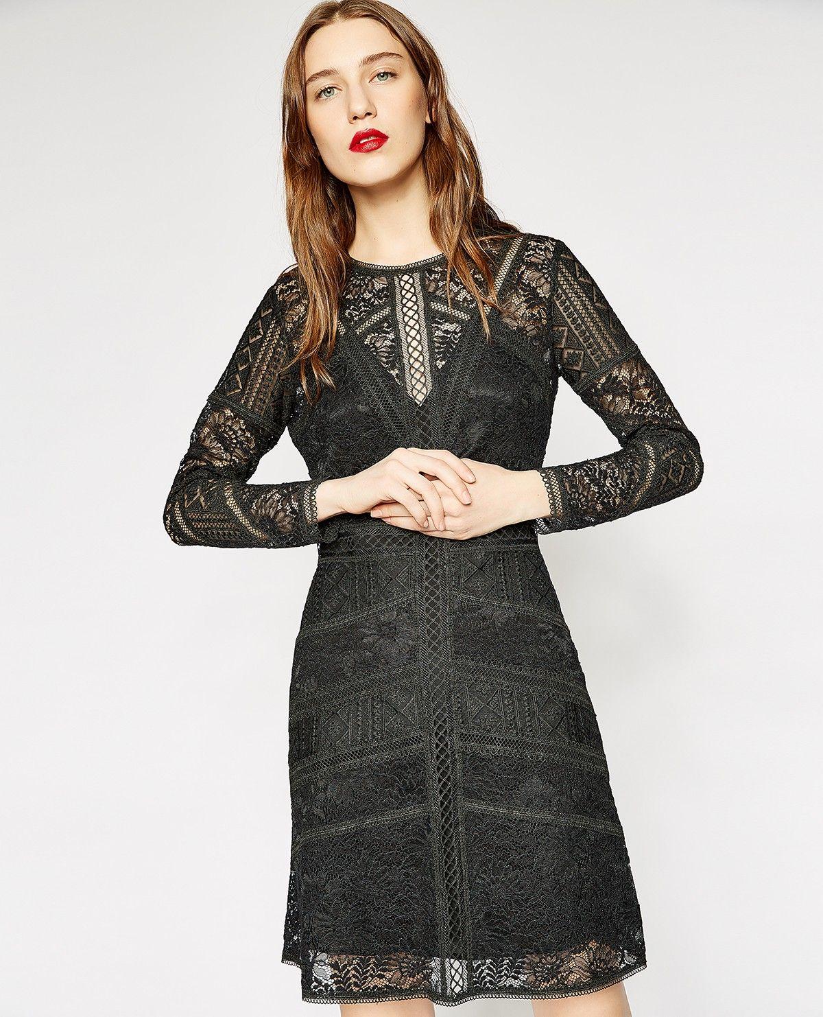 Schwarzes Spitzenkleid | Kleid spitze, Schwarzes spitzenkleid