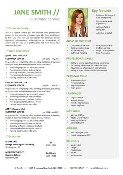 wwwcvfolio Résumé CV Resume Resumé Resümee - functional cv template