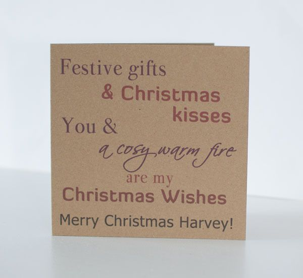 Personalised Christmas Card For Husband, Wife, Boyfriend
