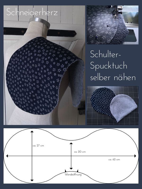 schneiderherz schulter spucktuch selber n hen aaa maj. Black Bedroom Furniture Sets. Home Design Ideas