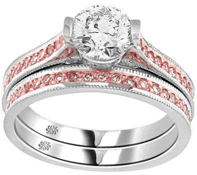 engagement search pink wedding ringspink - Pink Diamond Wedding Ring