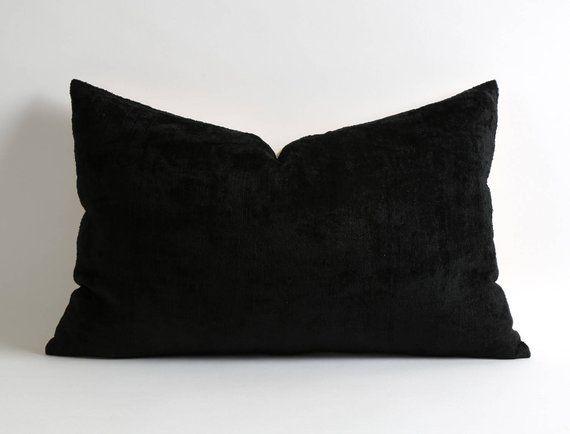 velvet pillow cover ikat velvet pillow black pillow living room decor  office decor gift for women de bd47a1c72c