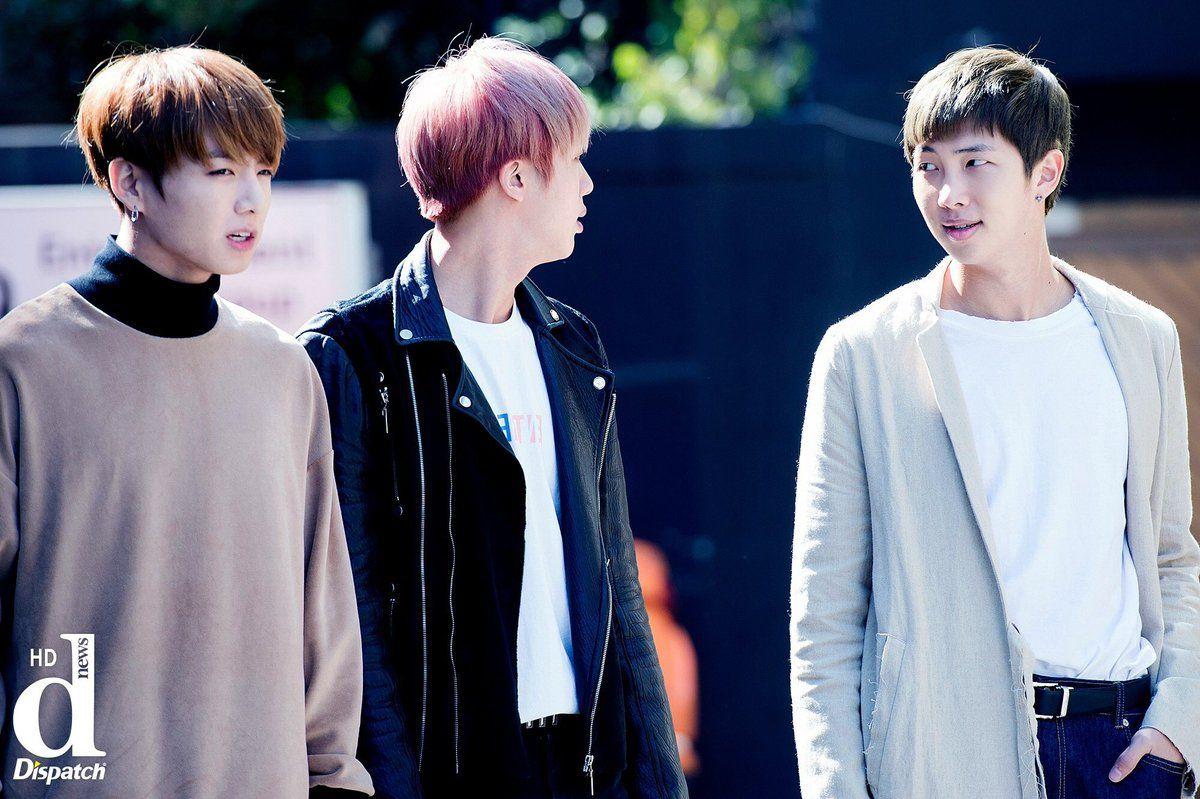 Jungkook, Jin and Rap Monster