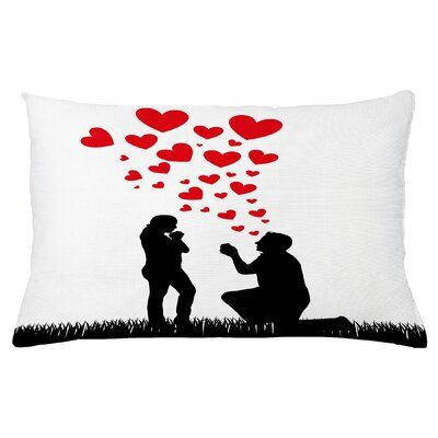 East Urban Home Engagement Party Indoor / Outdoor Lumbar Pillow Cover Size: 16 x 26 #engagementpartyideasdecorations