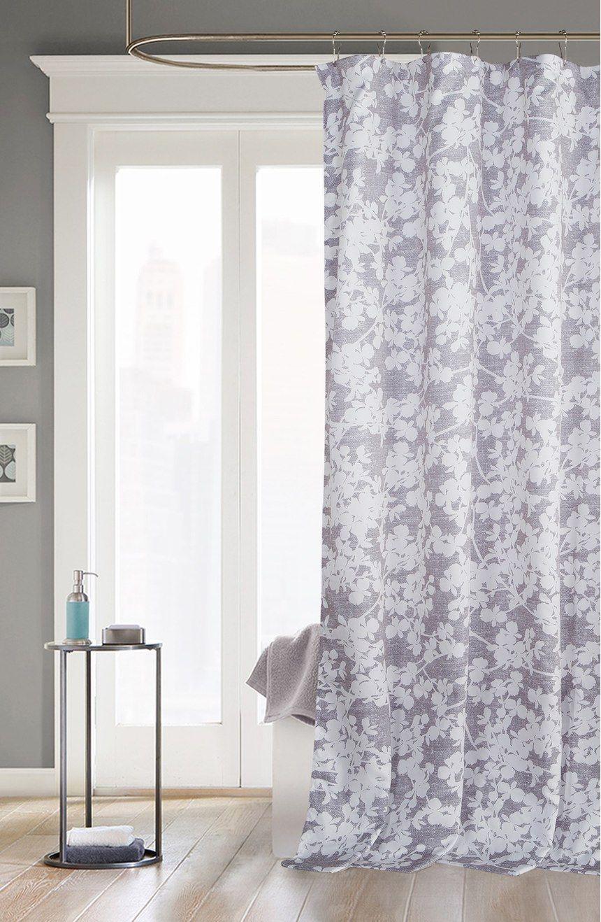 Kensie Ainna Shower Curtain Curtains Gray Shower Curtains