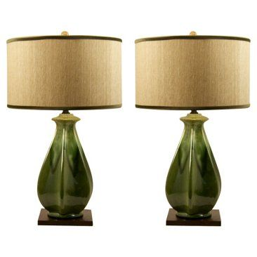 Haeger Drip Glaze Lamps Pair Lamp Beautiful Lamp I Love Lamp