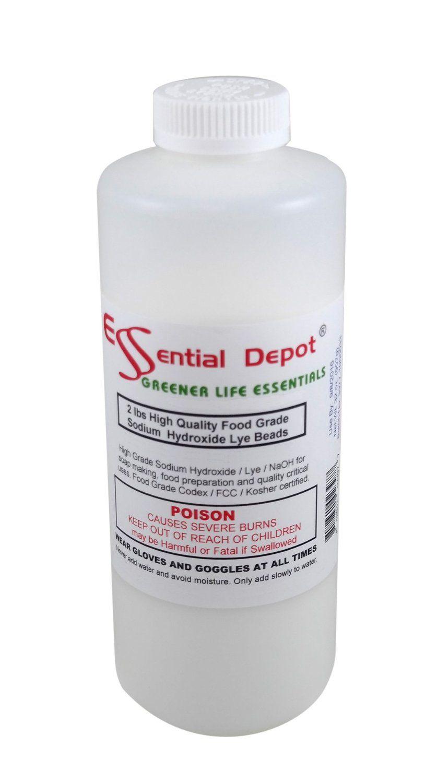 Food grade sodium hydroxide lye micro beads 2 lbs