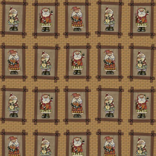 DN05 - Parede com Papai Noel Fabricart Tecidos - Estampa Digital