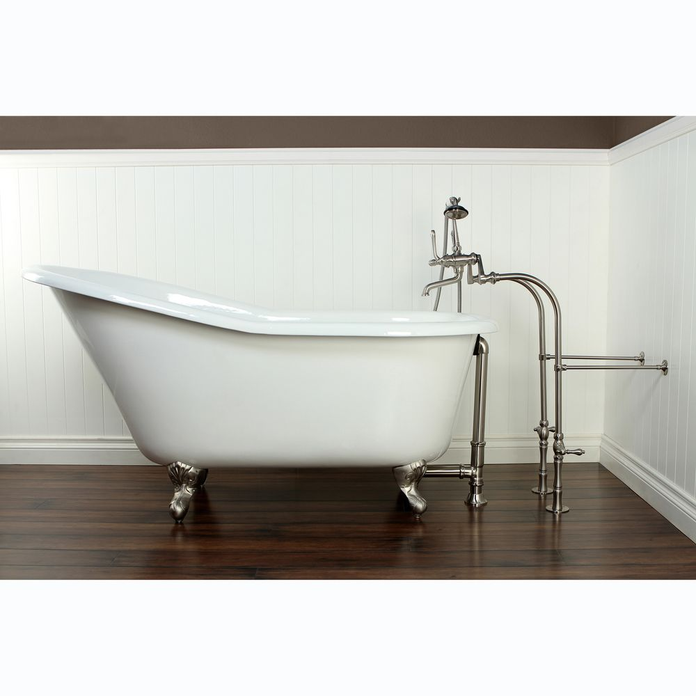 Slipper Cast Iron 60-inch Clawfoot Bathtub by Kingston Brass ...