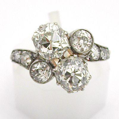 Bague ancienne or et diamants