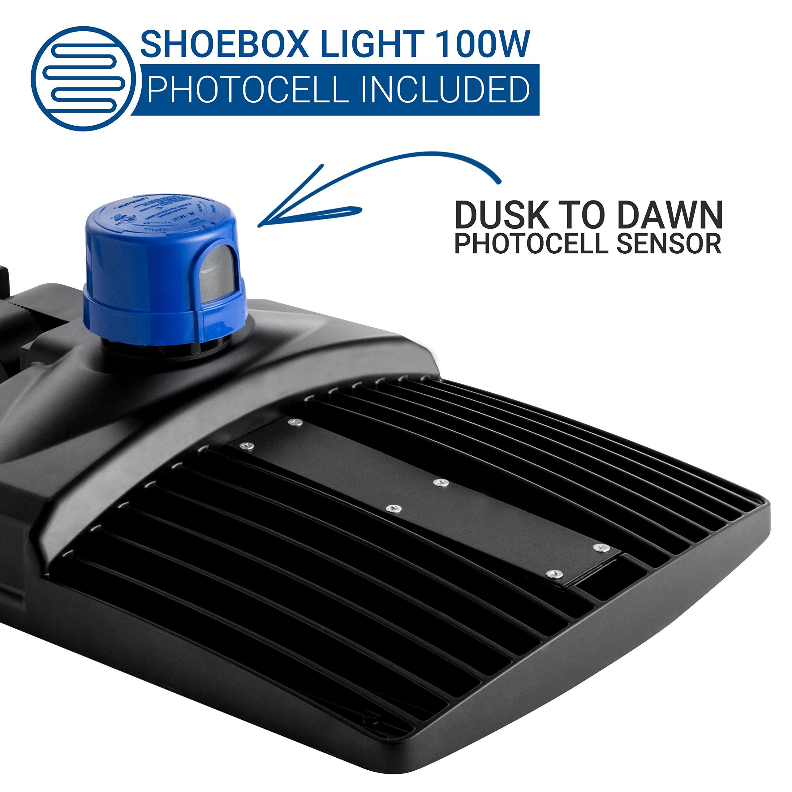 small resolution of hyperikon led shoebox pole light 100w 300w hid hps replacement 5700k 11100 lumen direct wiring
