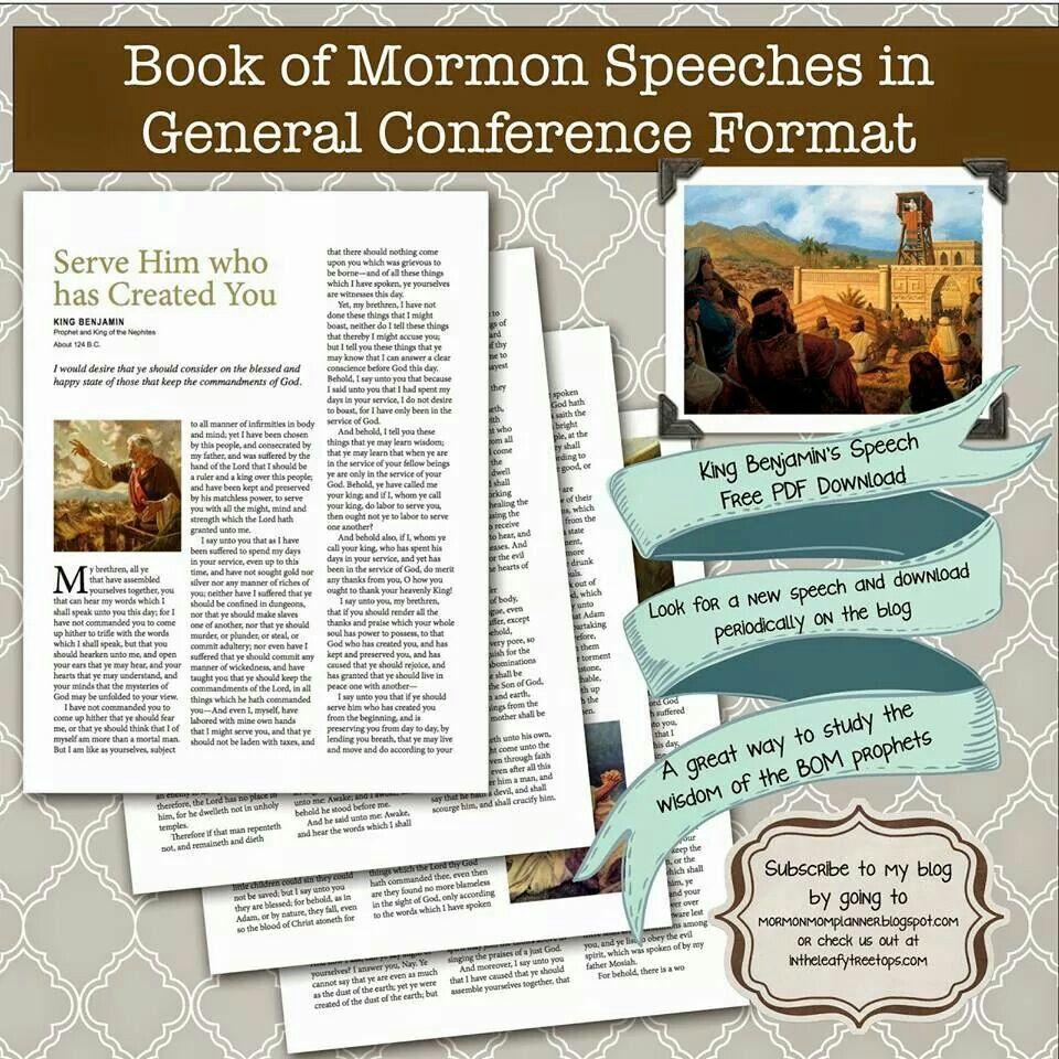 Book Of Mormon Speeches