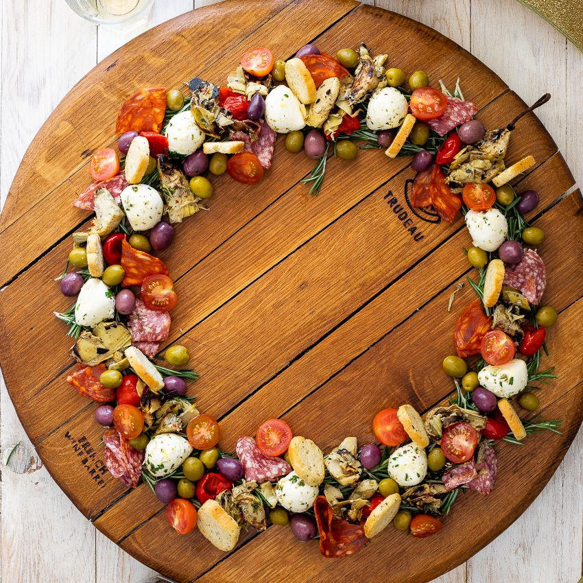 Easy antipasto wreath #appetizersforparty