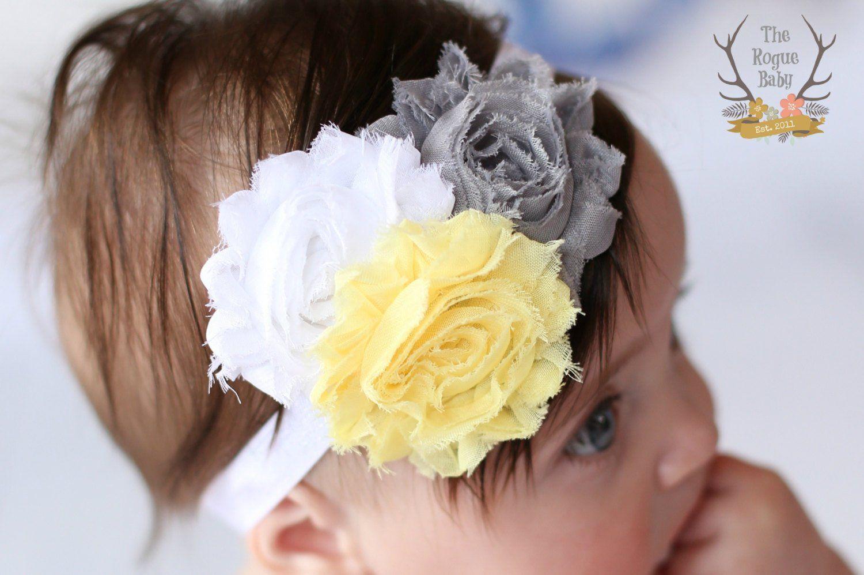 Grey, wedding headband toddler headband infant headband newborn headband Baby headband