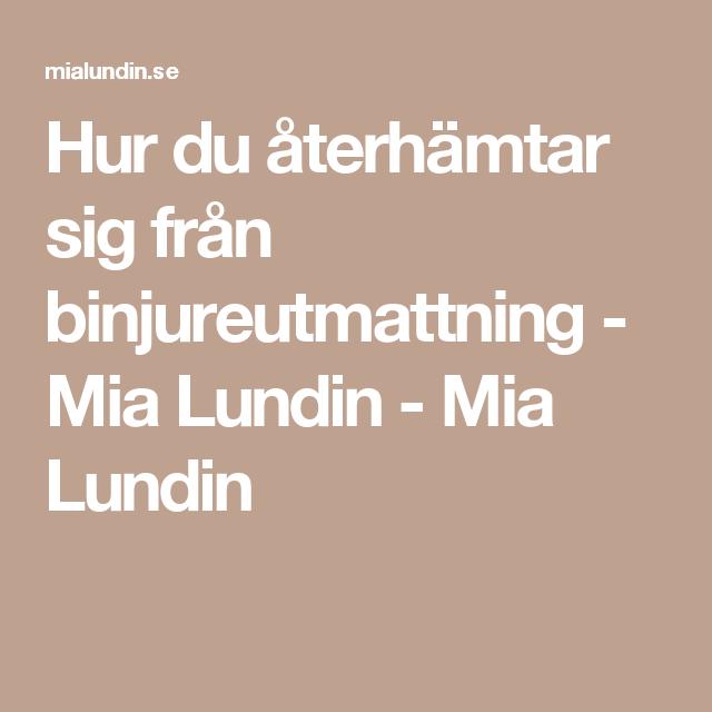 Hur du återhämtar sig från binjureutmattning - Mia Lundin - Mia Lundin