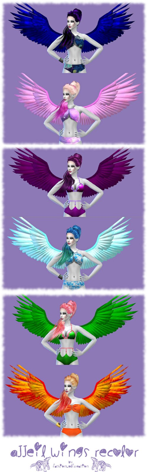 Sims 4 CC's - The Best: Wings by Fashion Wolf Creation